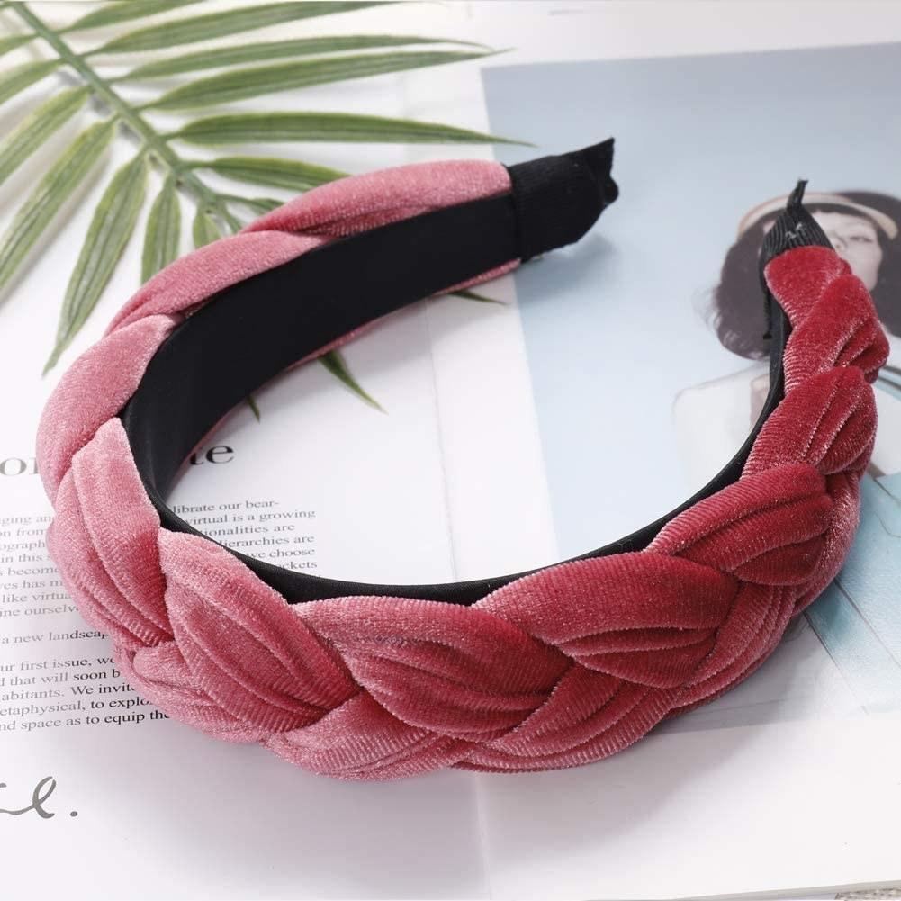 A braided headband on a magazine