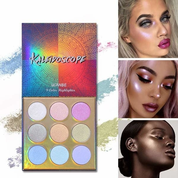 The palette and 3 models demonstrating the shades.