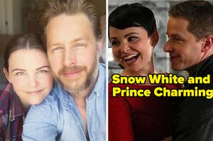Ginnifer Goodwin and Josh Dallas, who play Snow White and Prince Charming on Once Upon a Time, taking a very cute selfie together