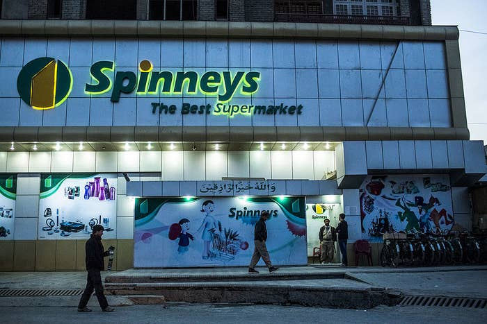 The exterior of a Spinneys supermarket