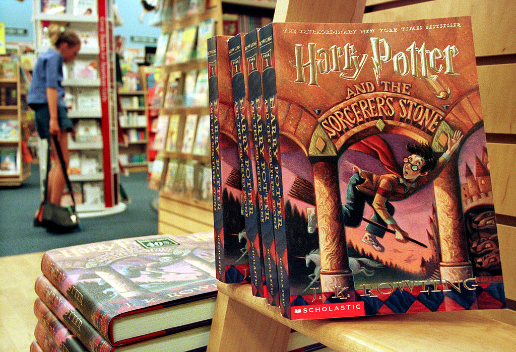 "Copies of the ""Harry Potter"" seriessit in a bookstore"