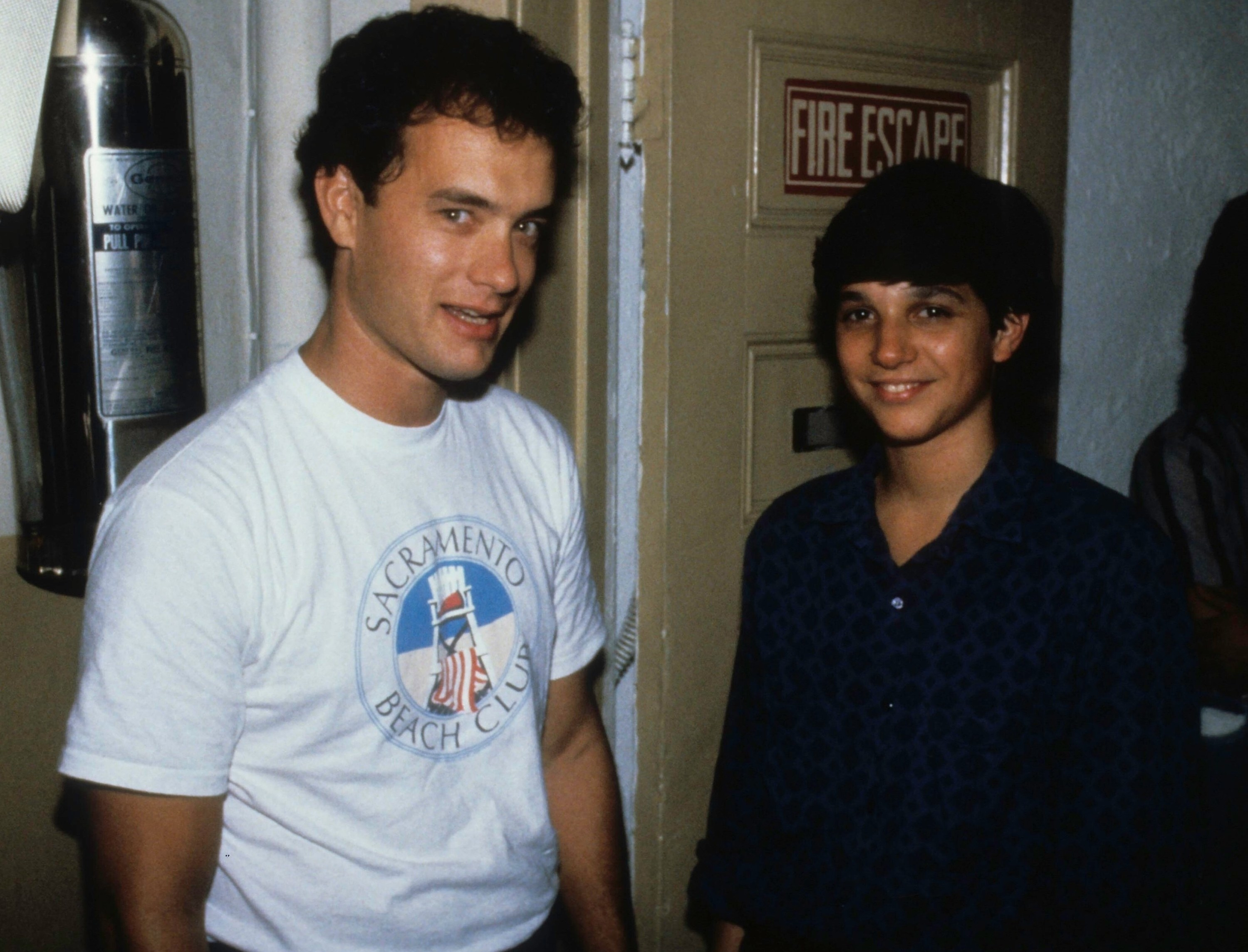 Looking nerdy with Ralph Macchio