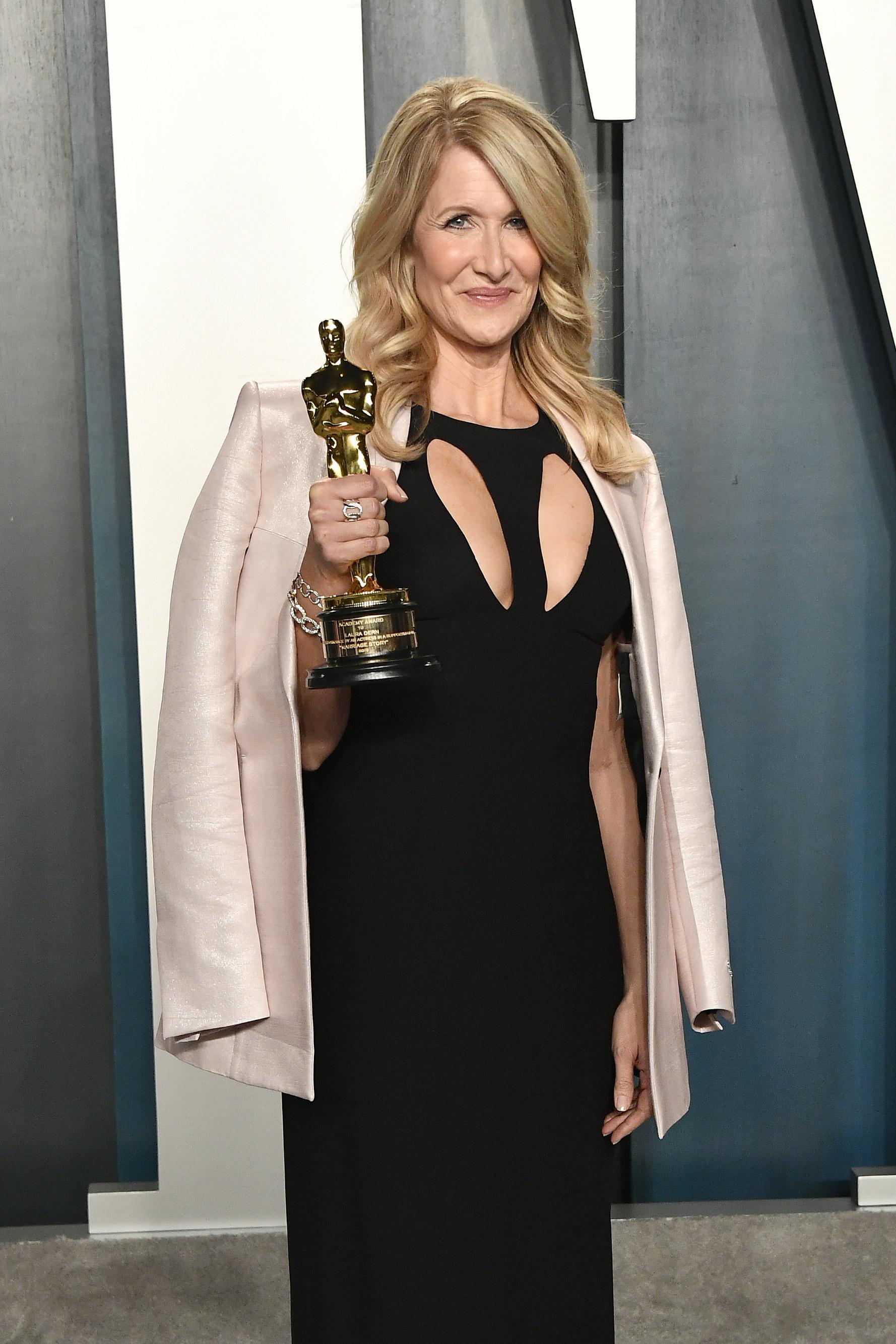 With an Oscar