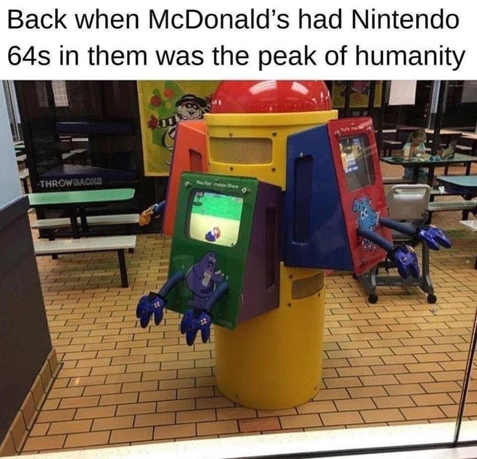 N64s inside a mcdonald's