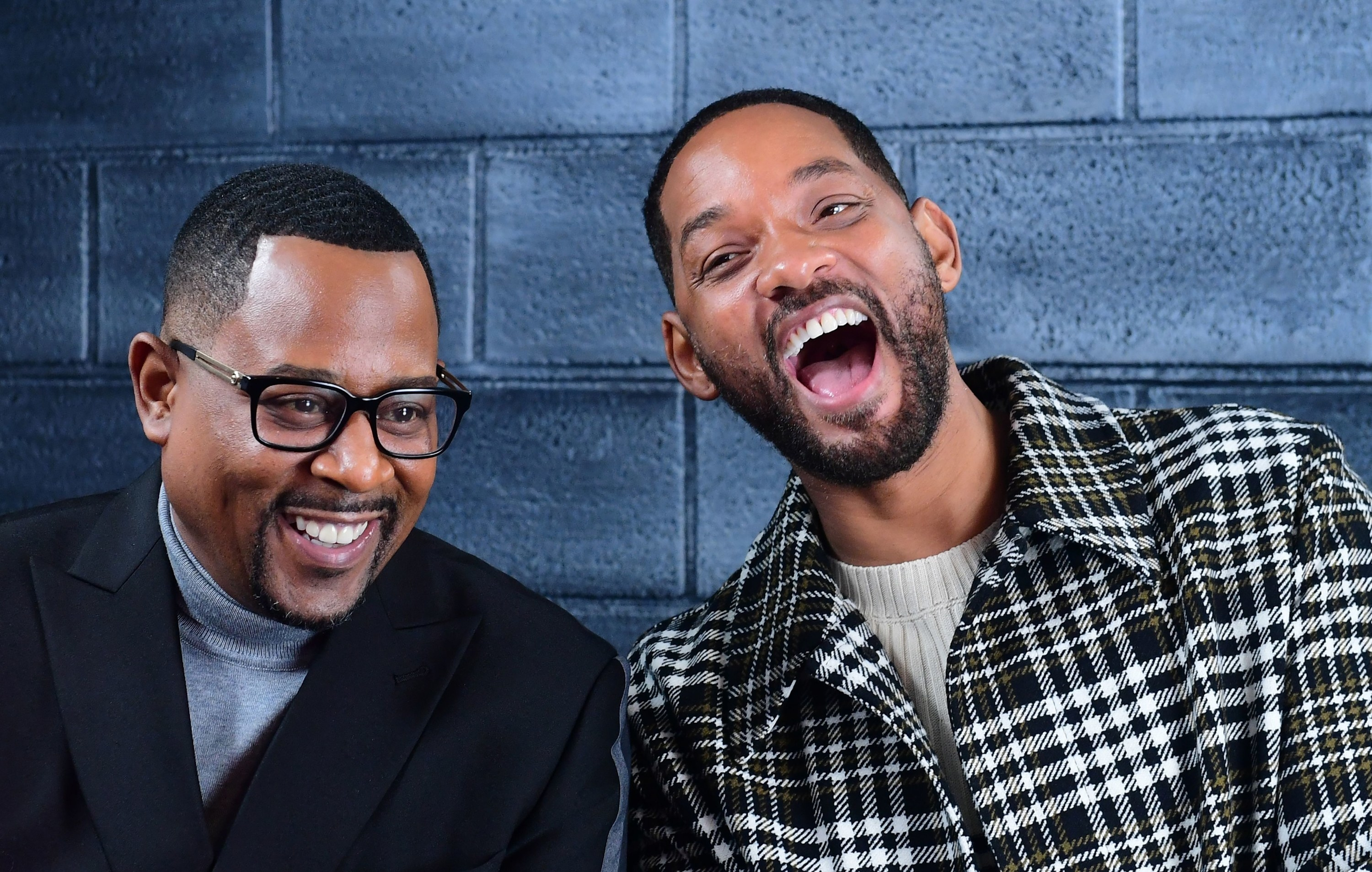 With Martin Lawrence, both laughing
