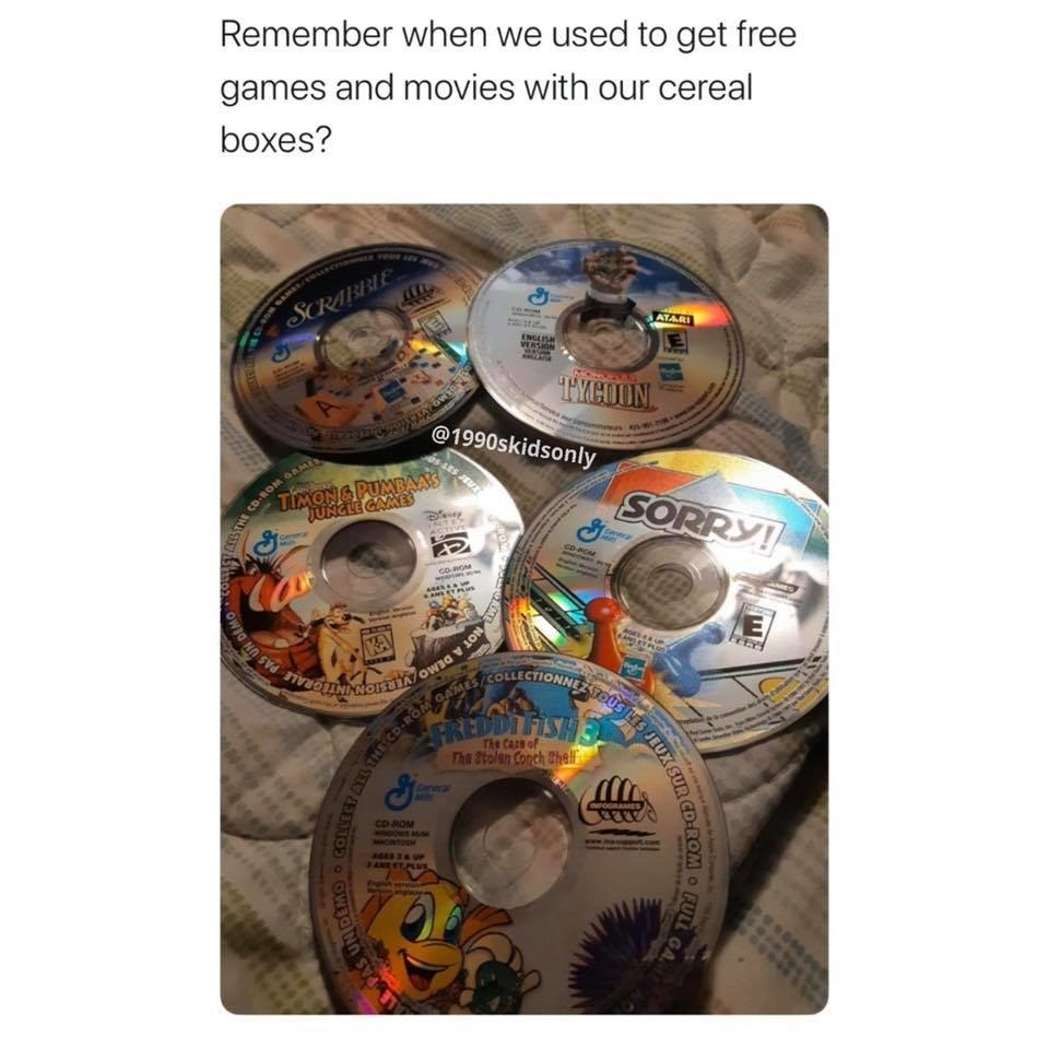 free CDs from a cereal box