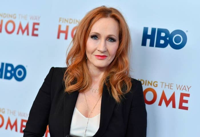 """J.K. Rowling on the red carpet for the """"Finding the Way Home"""" premiere"""