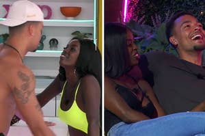 """""""Love Island"""" stars Justine and Caleb coupled up together"""