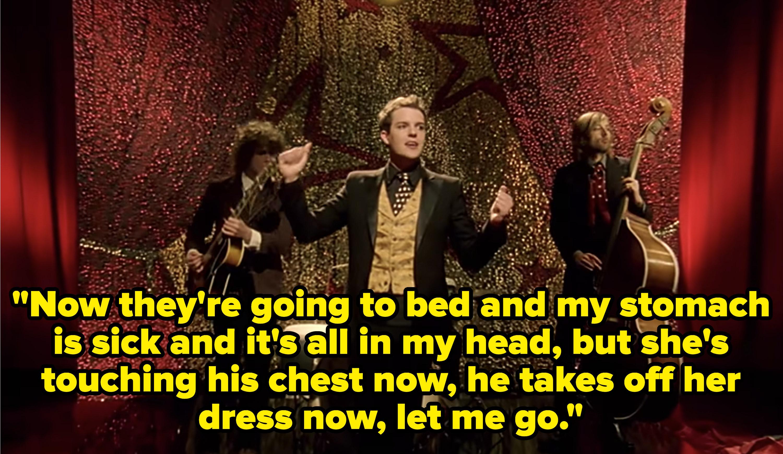 The Killers performing in a speak-easy.