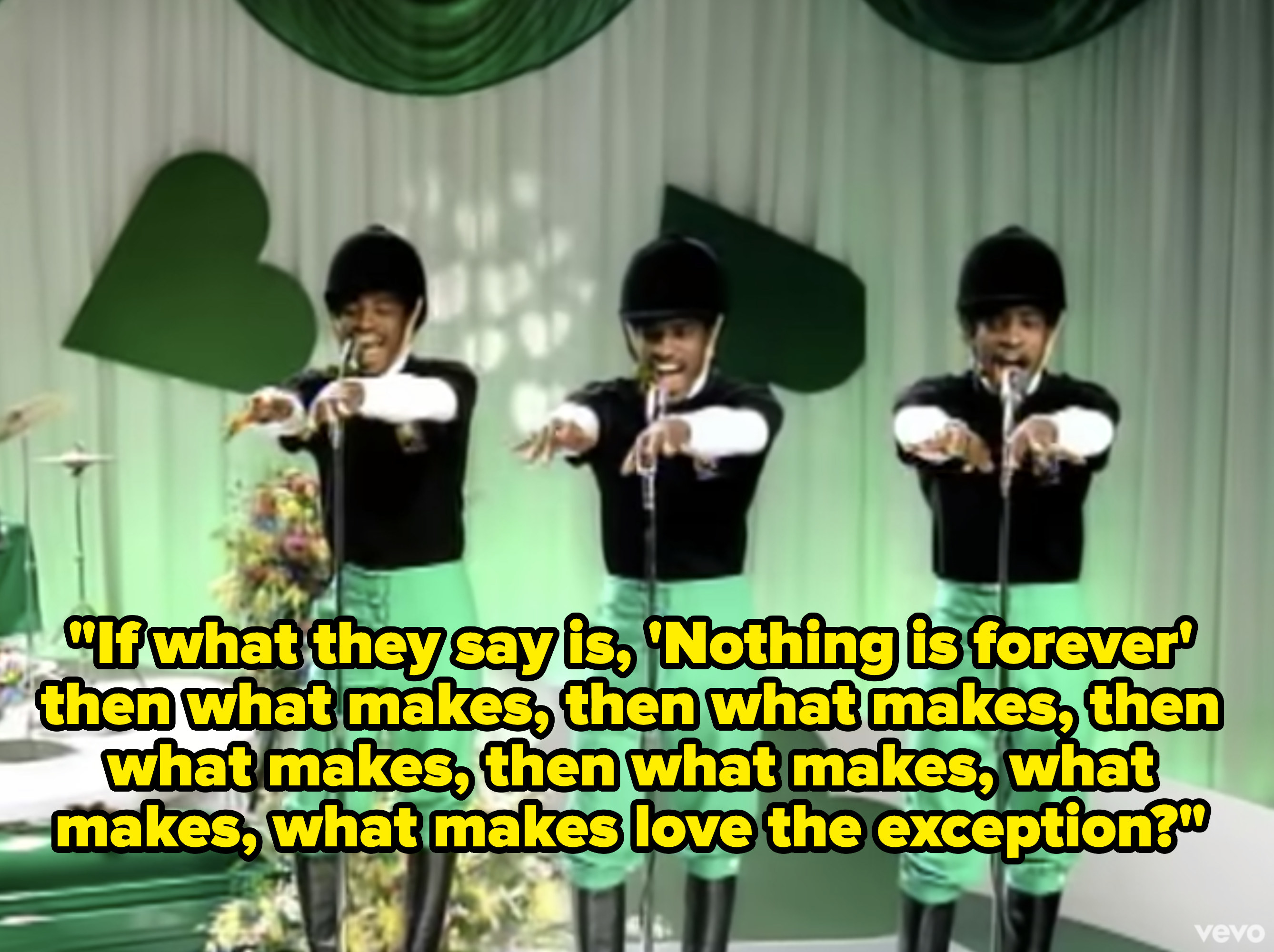Andre 3000 x3 acting as background singers and dancers.