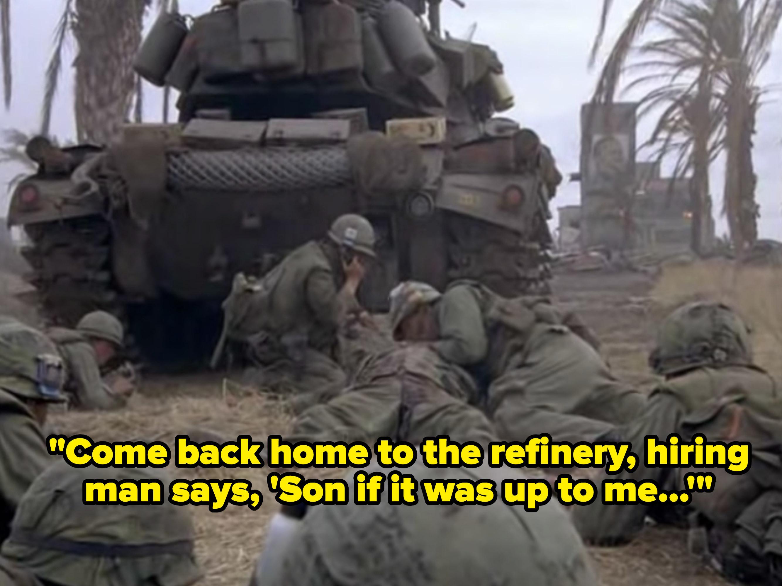 War footage from the Vietnam war.