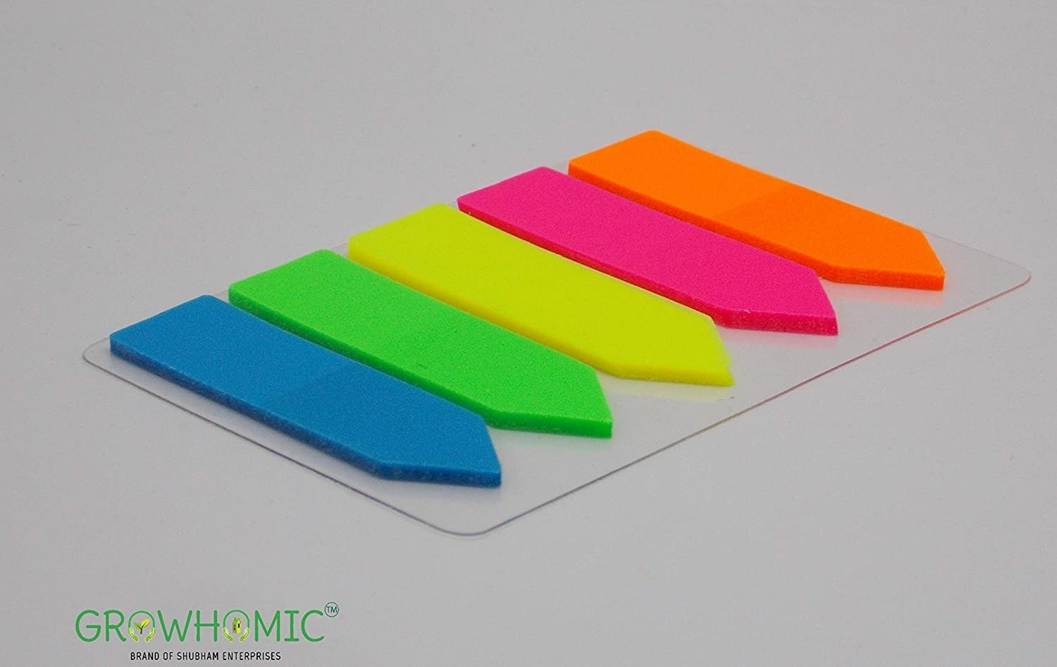 Colourful arrow-shaped stickie notes