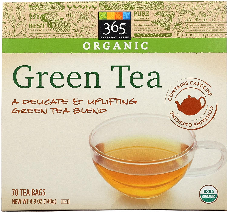 box of green tea bags