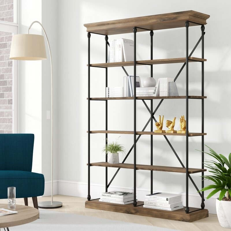 The five-tier bookshelf