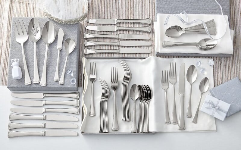 all 65 pieces of the flatware