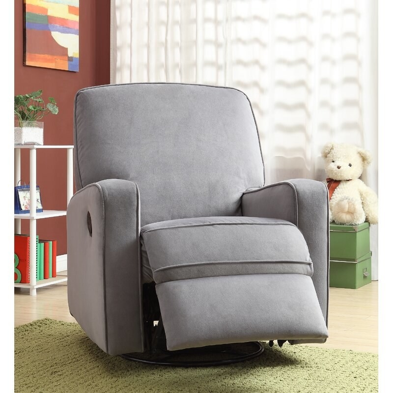 The reclining armchair in grey