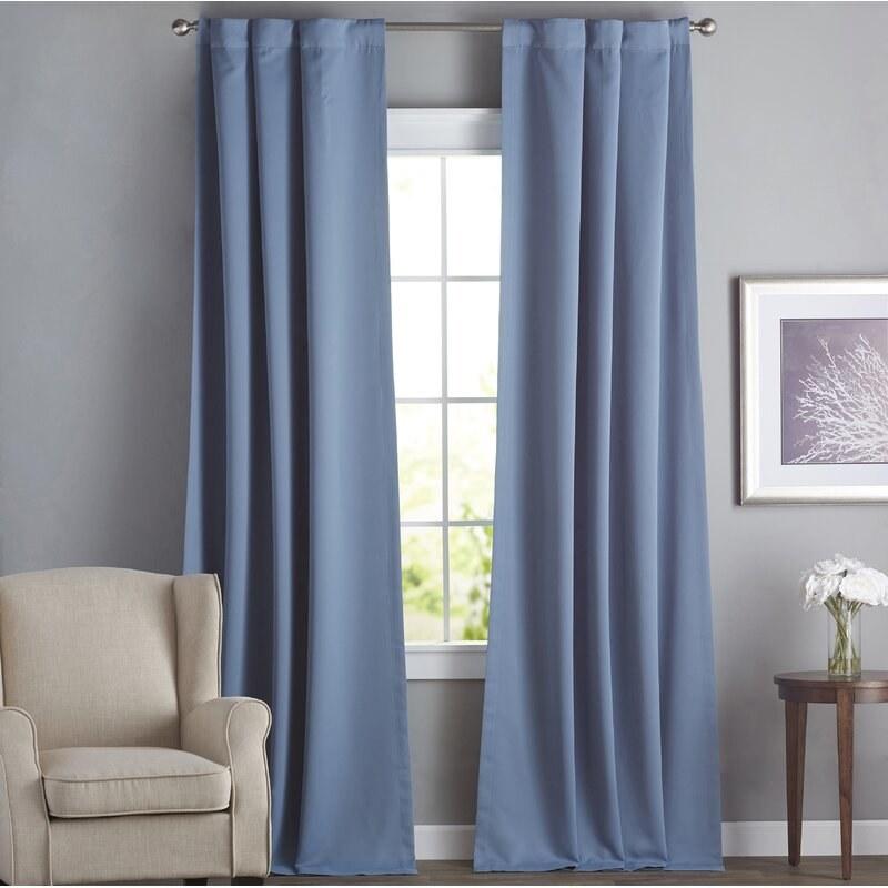 Birch Lane's curtain panels in blue