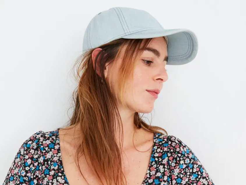 the hat in light blue