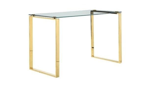The brass and glass desk