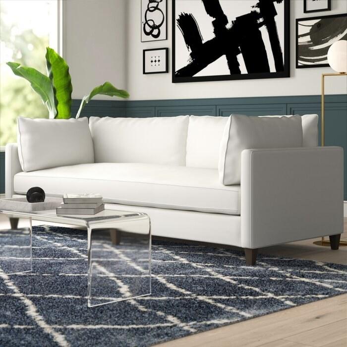 North Burnet's white square sofa