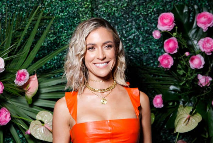 Kristin Cavallari posing in a latex dress at a Hollywood event