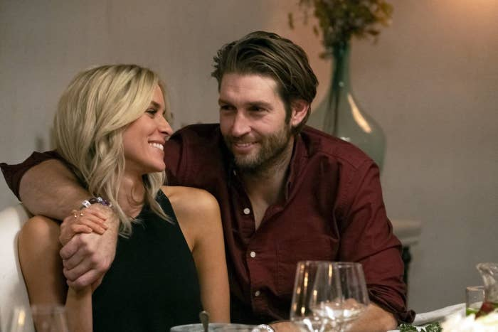 Kristin Cavallari stares into Jay Cutler's eyes as he wraps his arm around her
