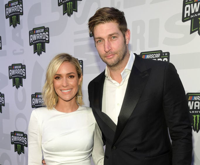 Kristin Cavallari and Jay Cutler posing together at the 2019 NASCAR Cup Awards