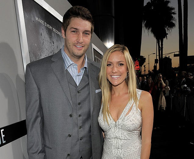 Jay Cutler and Kristin Cavallari posing together at a Hollywood event in 2011
