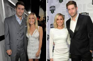 Kristin Cavallari and Jay Cutler pose together for a Hollywood event