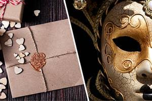Invitation and masquerade mask