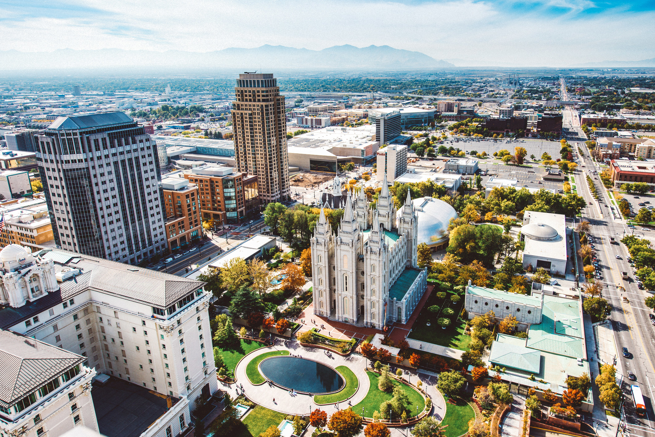 A view of Salt Lake City