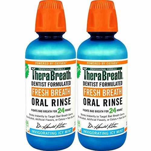 two bottles of mouthwash