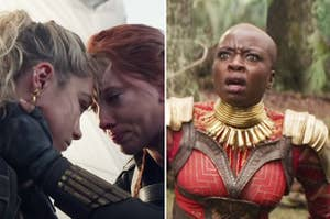 Yelena, Natasha, and Okoye from the MCU