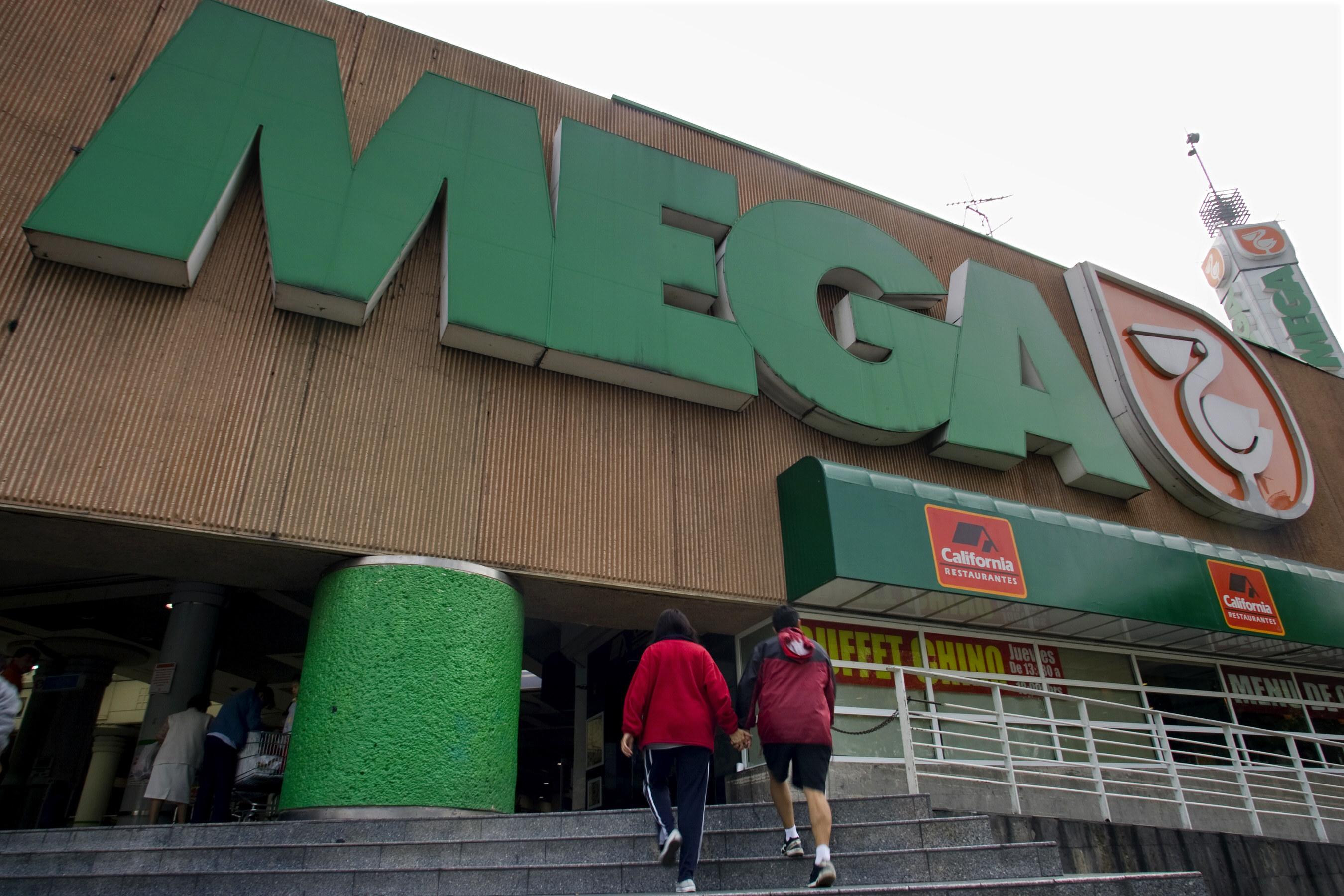 The exterior of a Mega supermarket