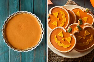 Pumpkin pie and pumpkin cookies.