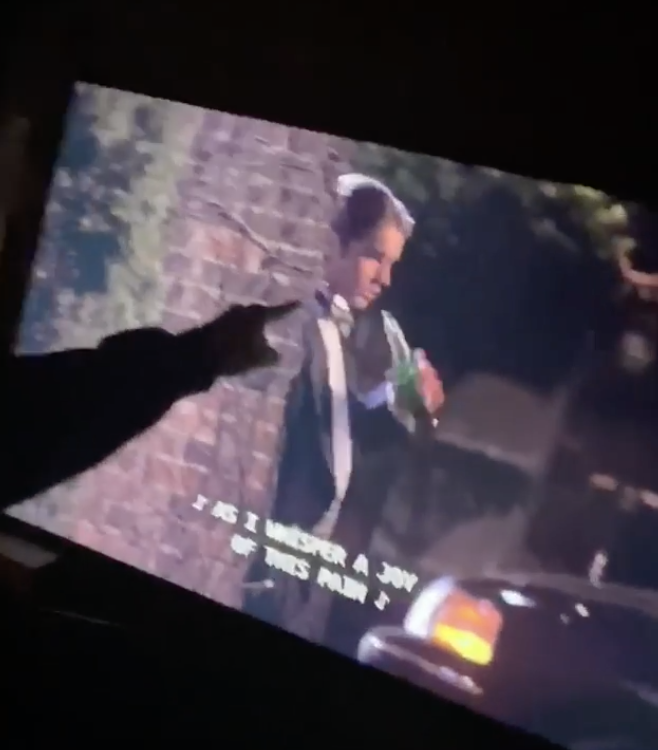 Sebastian pointing to Nate Archibald on his screen.
