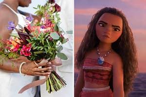 Wedding flowers and Moana