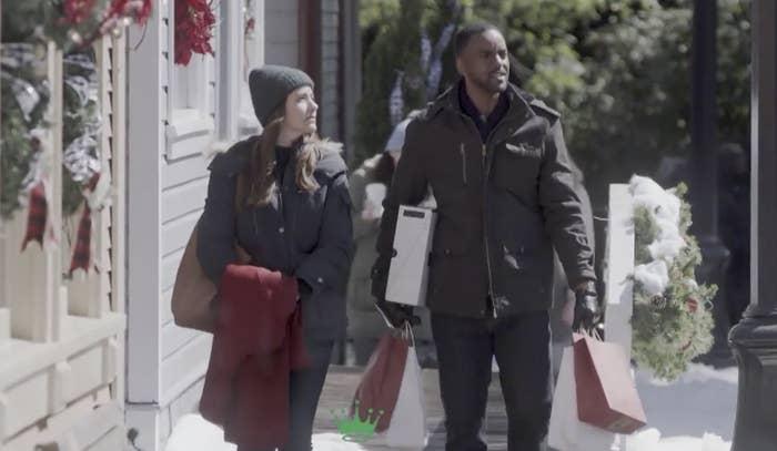 A couple Christmas shopping