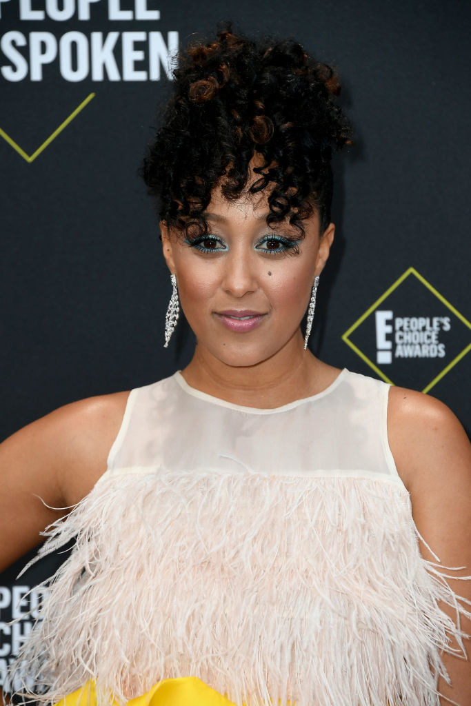 Tamera Mowry on a red carpet