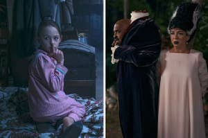 A scene from The Haunting of Bly Manor next to a scene from Hubie Halloween