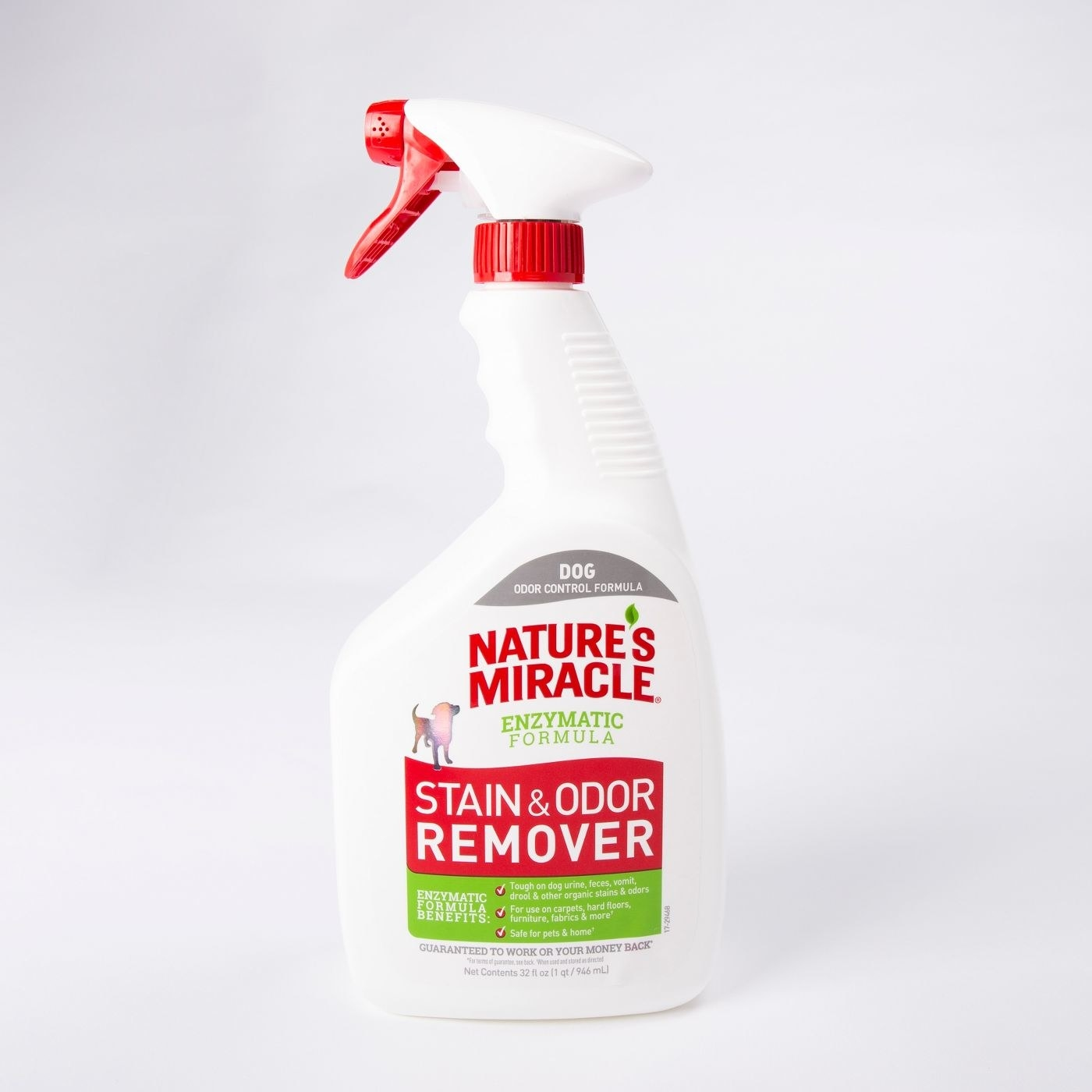 nature miracle's stain and odor remover spray bottle