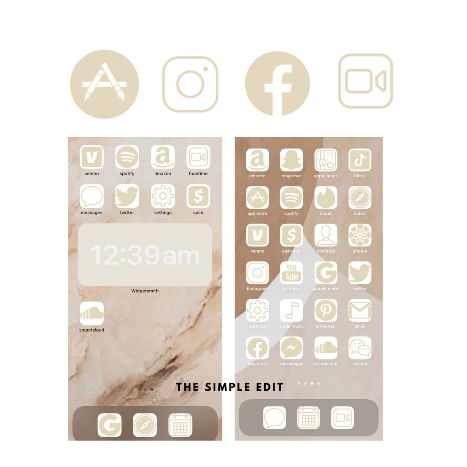 nude gradient icons