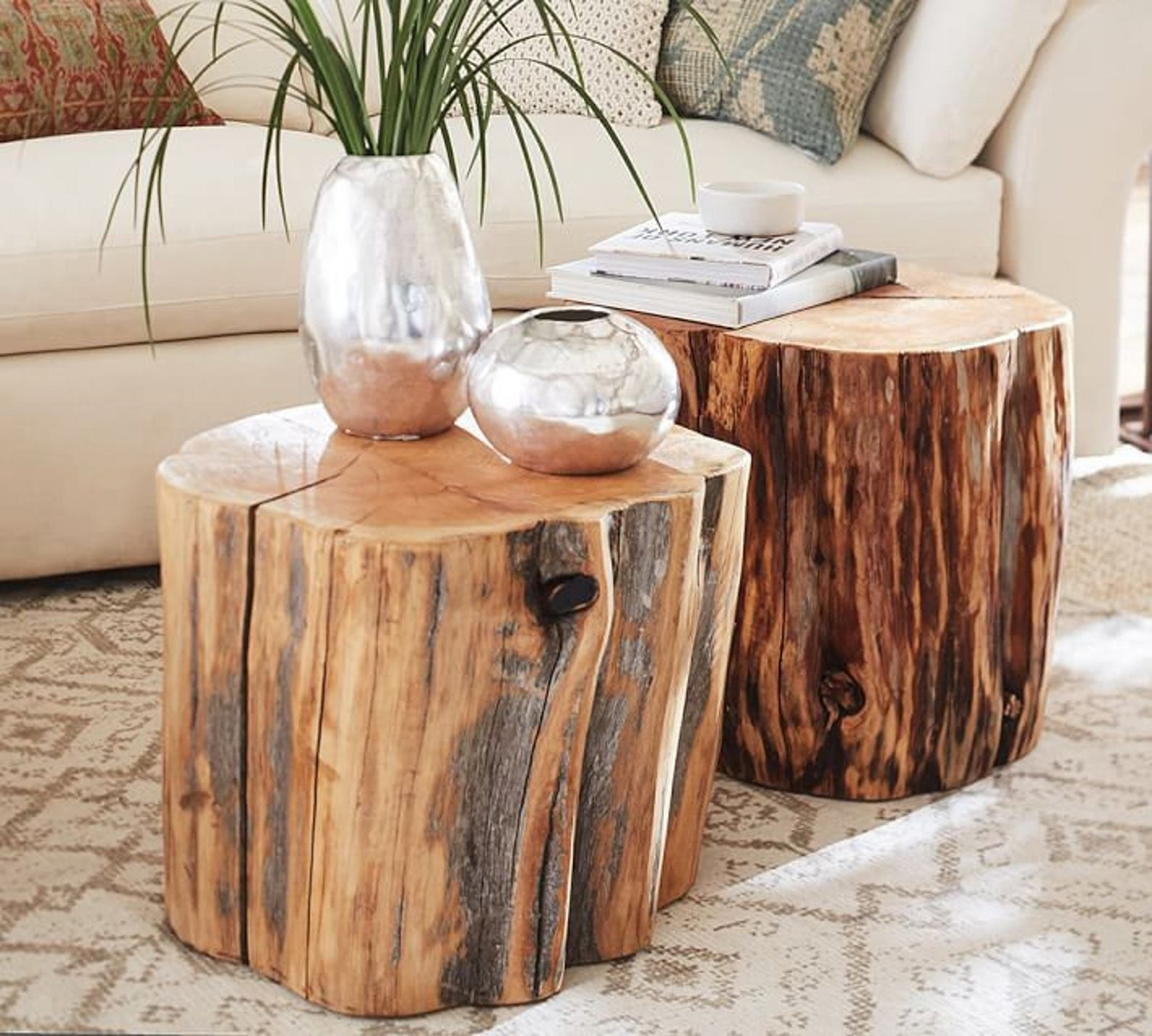 The tables that look like logs from a tree