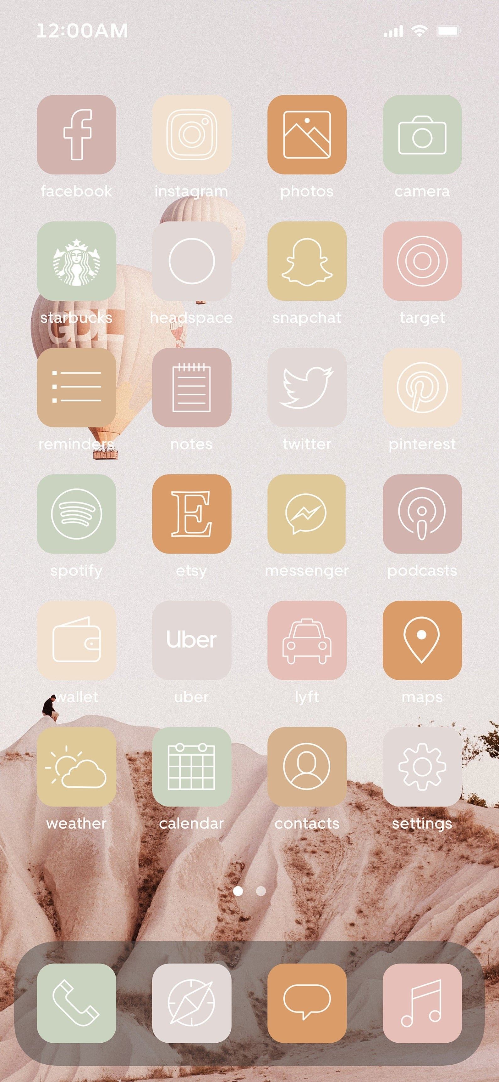 ios14 aesthetic app icon themes ios14 aesthetic app icon themes