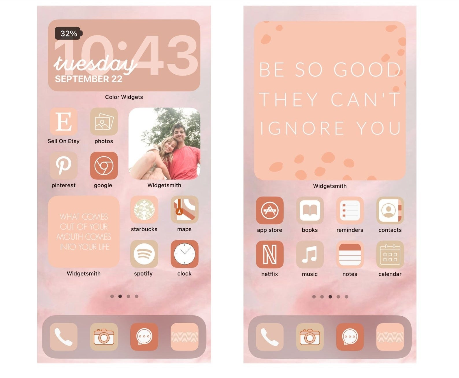 dusty pink gradient icons