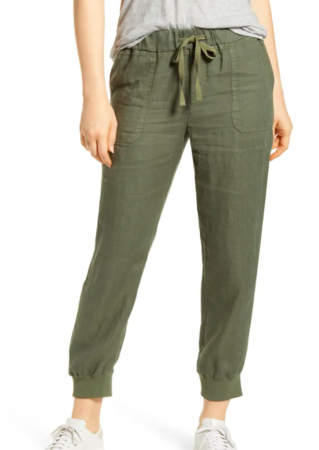 the pants in green