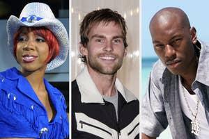 Kelly Rowland, Seann William Scott, and Tyrese 20 years ago