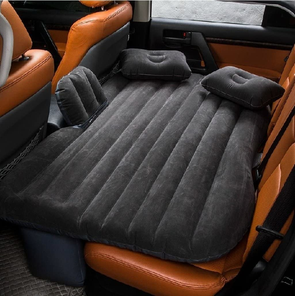 inflatable mattress in backseat