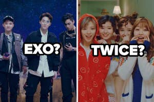 Images of EXO and Twice