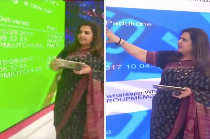 Journalist navika kumar reads whatsapp chats on primetime news